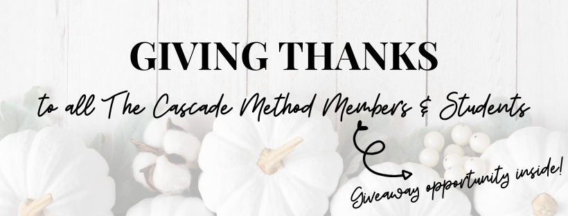 Giving Thanks to All Cascade Members and Students