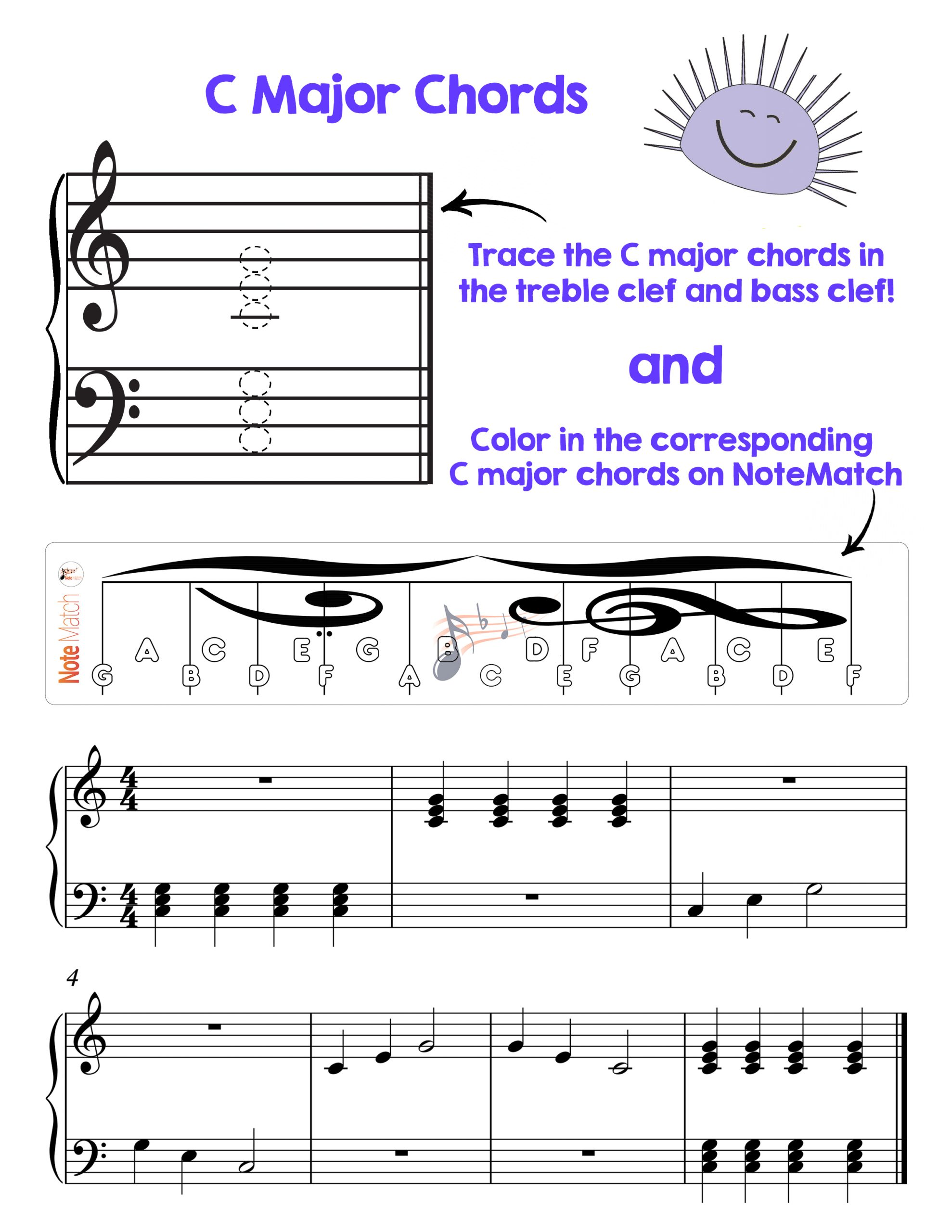 C Major Chords final page