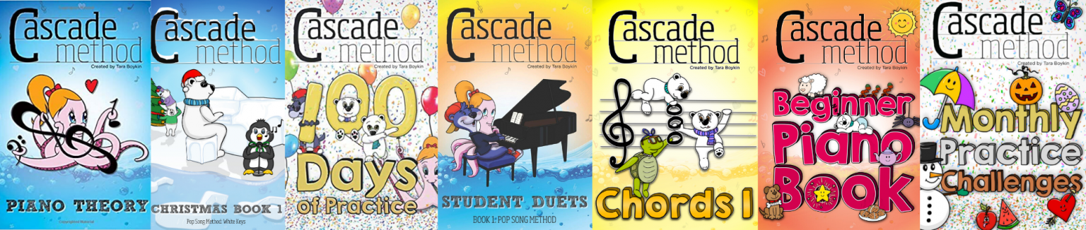 A full collage of the cascade method book collection