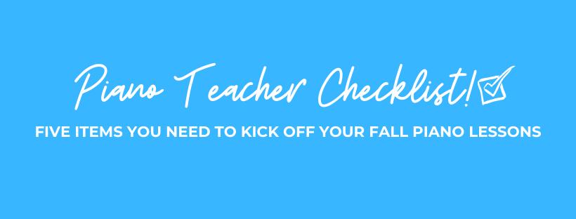 Piano Teacher Checklist Banner
