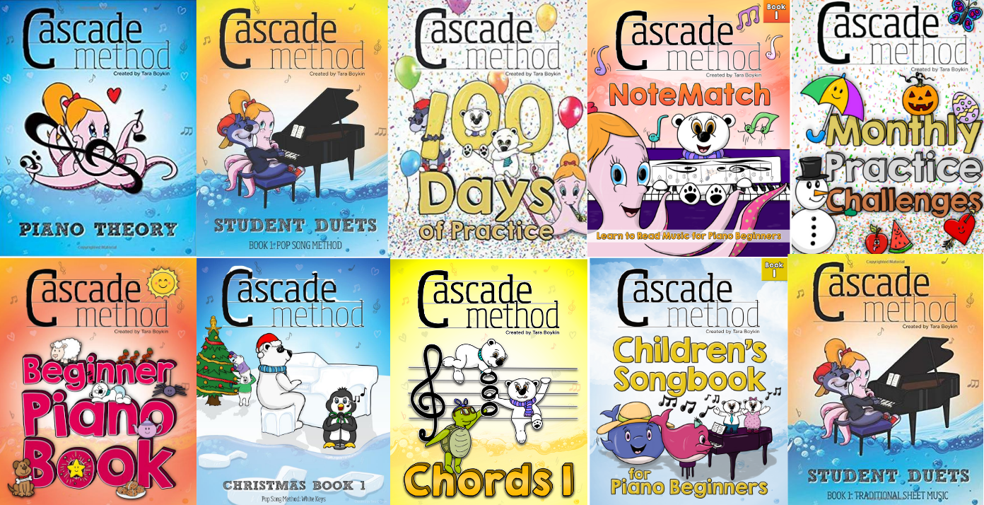 Full Cascade Method Piano Book Collection Banner
