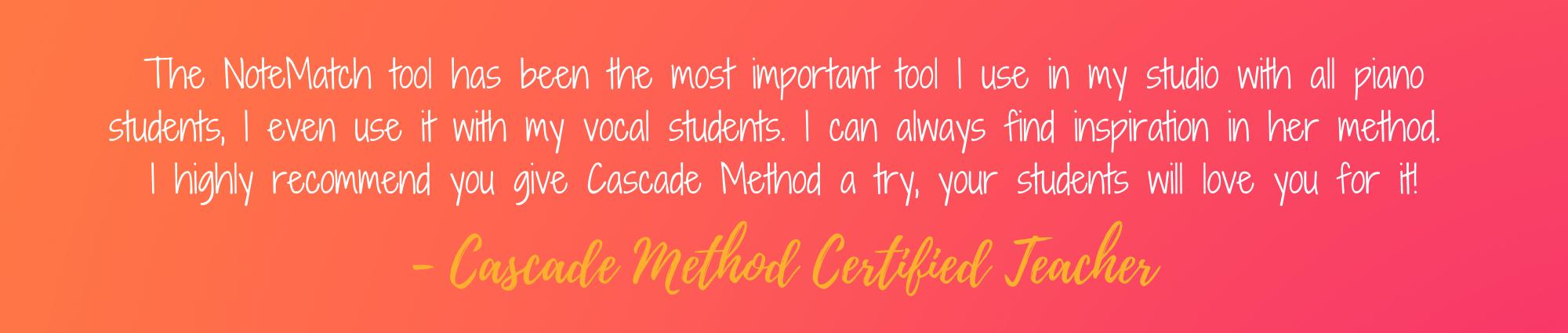 Cascade Method testimonial
