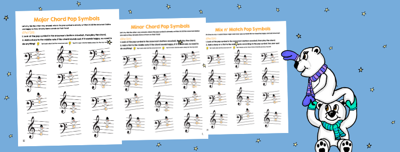 Snowman pages in the Cascade Chords 1 Book